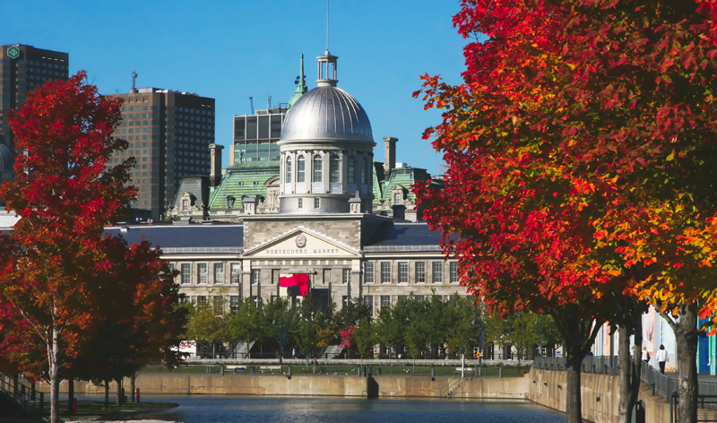 historical bonsecours market in old montreal quebec canada vacation packages