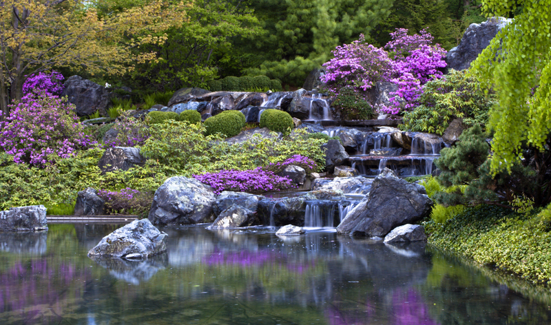 waterfalls in japanese botanical gardens in montreal quebec canada vacation packages cheap flights from montreal