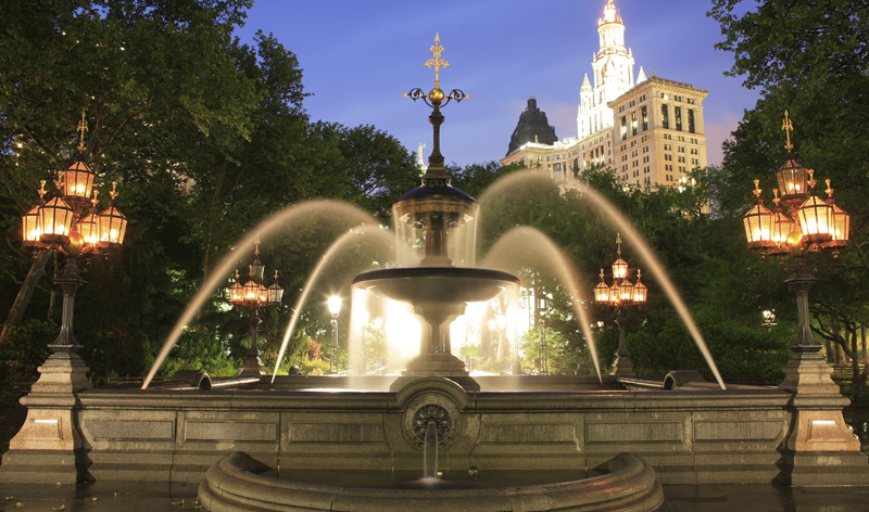 mould fountain in city hall park new york city new york usa vacation packages
