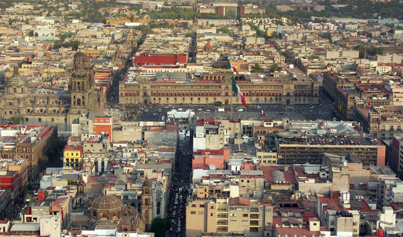 aerial view of city centre mexico city vacation packages cheap flights to mexico city