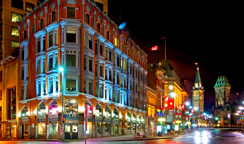 downtown at night ottawa ontario canada vacation packages cheap flights to ottawa