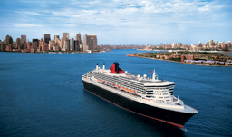 Cunard Cruises Queen Mary 2 New York City Skyline