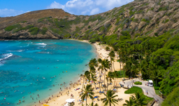 Hanauma Bay in Honolulu - Hawaii, USA