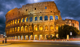 The Colosseum at Night - Rome, Italy