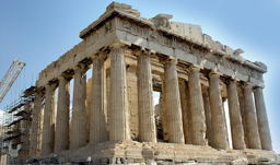 A view of the Parthenon Temple at Acropolis - Athens, Greece