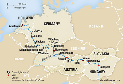 Legendary Waterways Of Europefrom Amsterdam To Budapest
