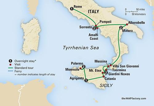 Southern Italy Amp Sicilyfeaturing Taormina Alberobello And