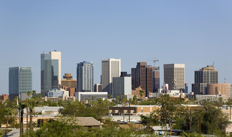 cityscape of downtown business park phoenix arizona usa vacation packages