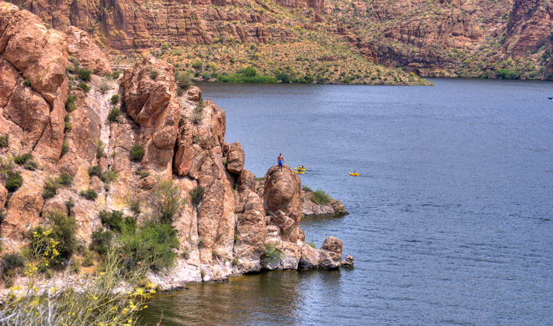 cliff diving at apache lake near phoenix arizona usa vacation packages