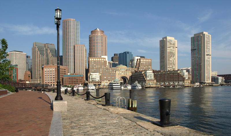 historic harbour waterfront and skyline boston massachusetts usa vacation packages