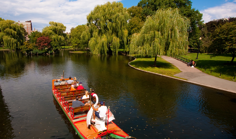 public garden and famous swan boats in boston massachusetts usa vacation packages