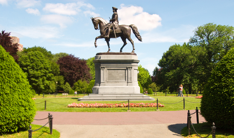 george washington statue in boston common public garden in boston massachusetts usa vacation packages