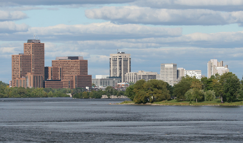 distant view of downtown hull ottawa ontario canada vacation packages cheap flights to ottawa