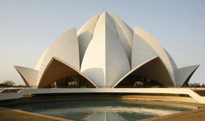 baha lotus temple delhi india