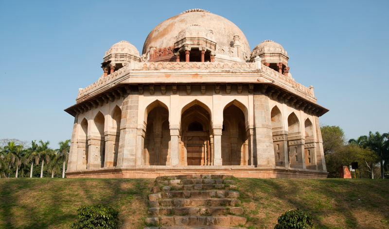 mugahl tomb at lodi gardens delhi india