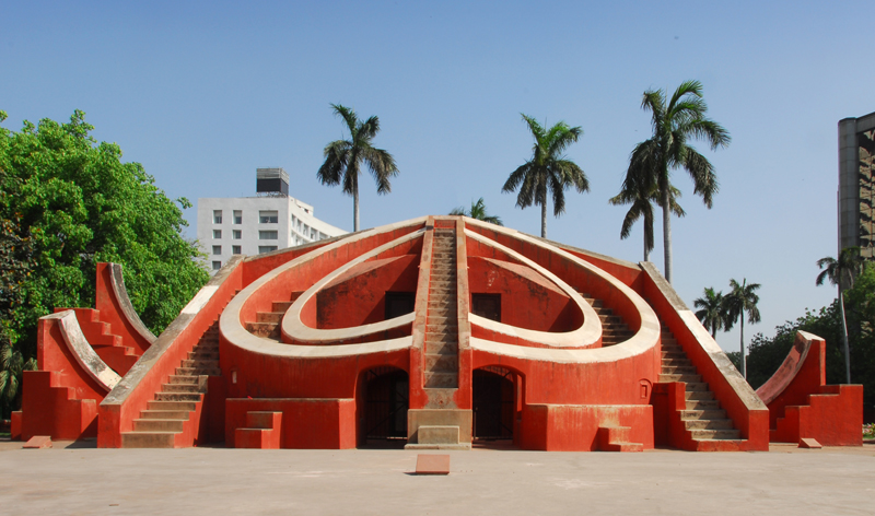 Astronomical instrument at Jantar Mantar observatory Delhi India