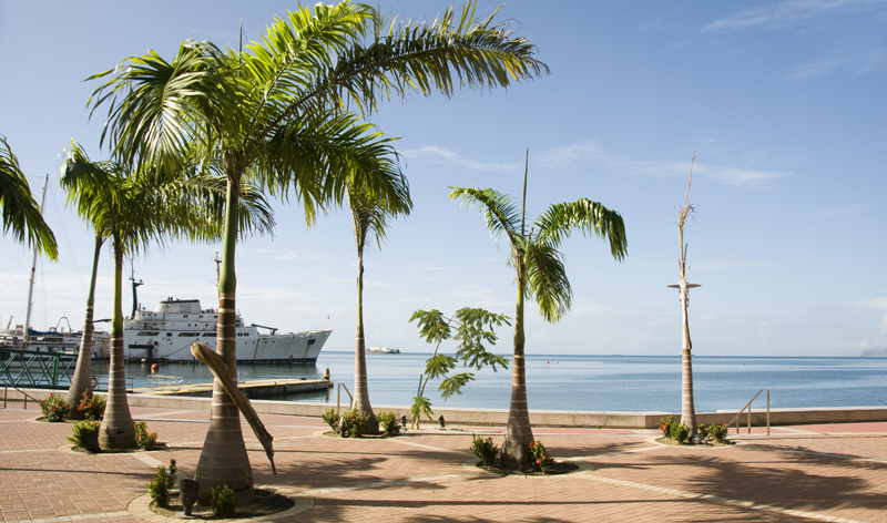promenade walkway and commuter ferry terminal port of spain trinidad and tobago caribbean