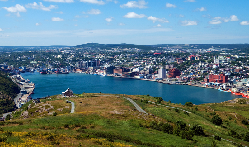 view of city and harbour from signal hill st johns newfoundland canada vacation packages