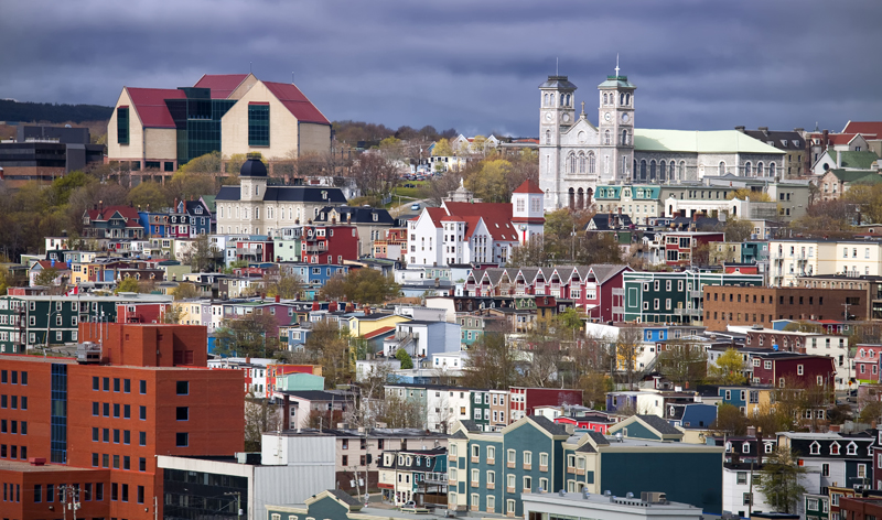 aerial city view st johns newfoundland canada vacation packages
