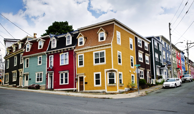 colourful housing st johns newfoundland canada vacation packages