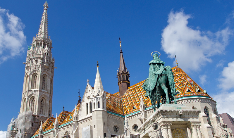 st stephen monument and matthias church budapest hungary europe vacation packages