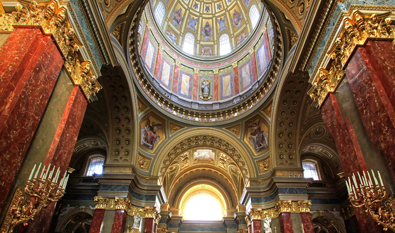 interior view of st stephen basilica budapest hungary europe vacation packages