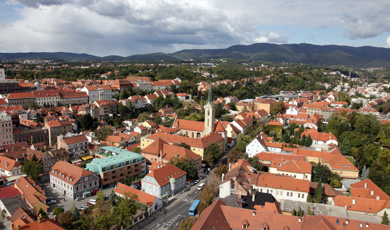 aerial city view zagreb croatia europe vacation packages