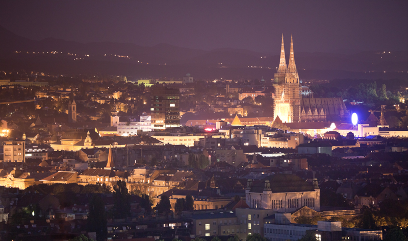 cityscape at night zagreb croatia europe vacation packages