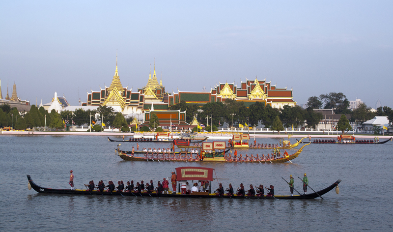 royal barge procession bangkok thailand asia