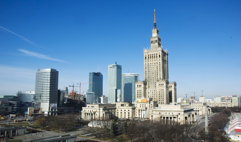 palace of culture warsaw poland europe