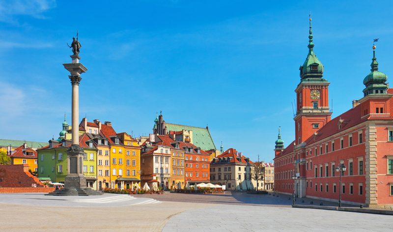 castle square warsaw poland europe