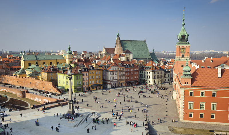 old town panorama warsaw poland europe