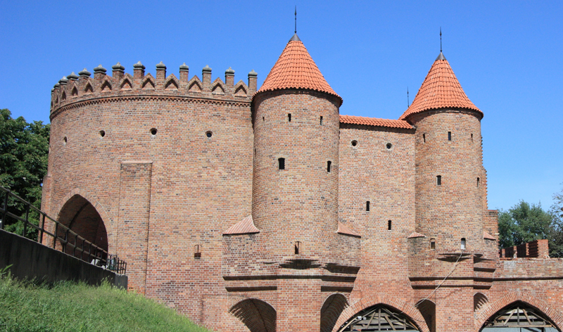barbican medieval city wall warsaw poland europe