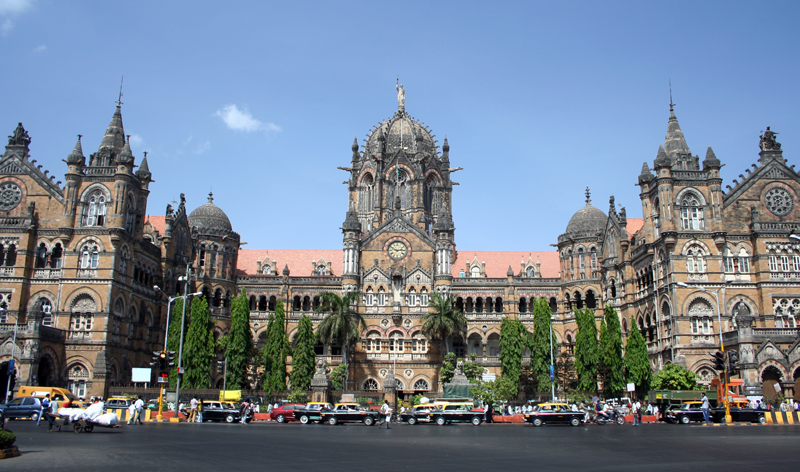 victoria rail station mumbai bombay india