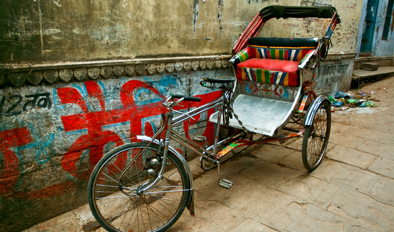 cycle rickshaw mumbai india bombay