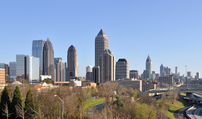 city skyline atlanta georgia usa