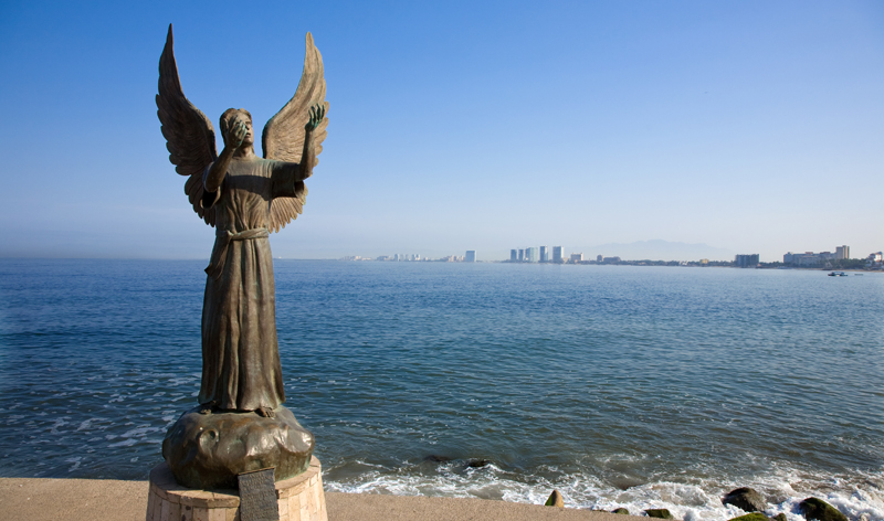 angel statue puerto vallarta mexico vacation packages