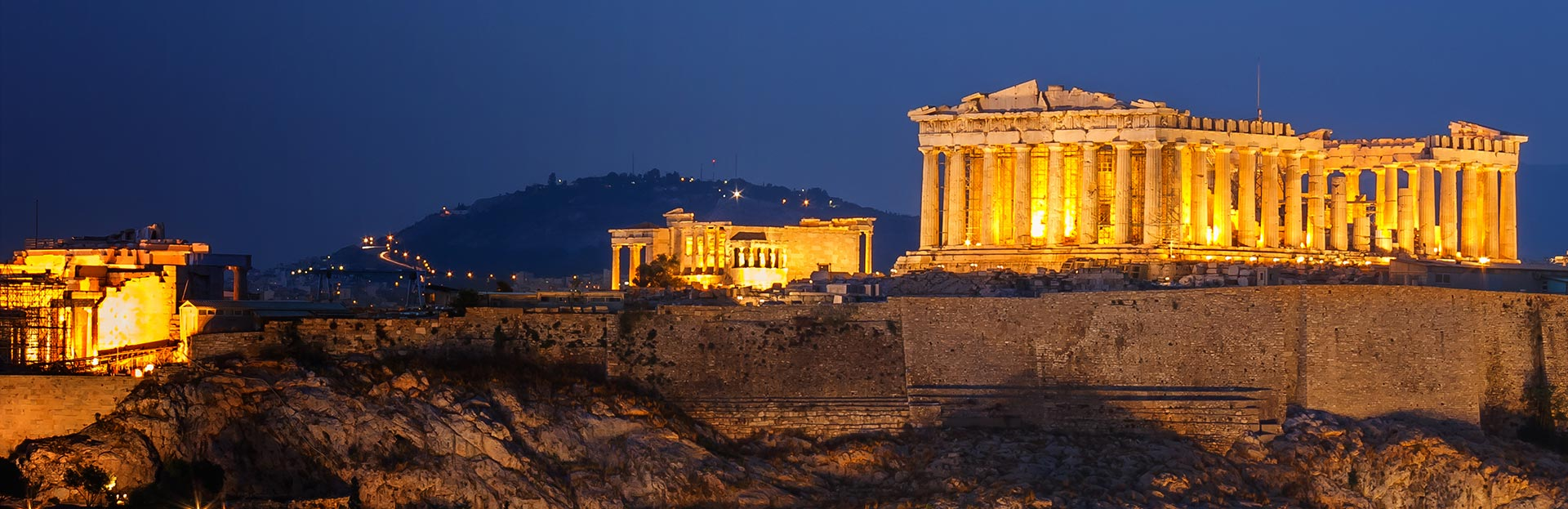 Athens Pantheon Night