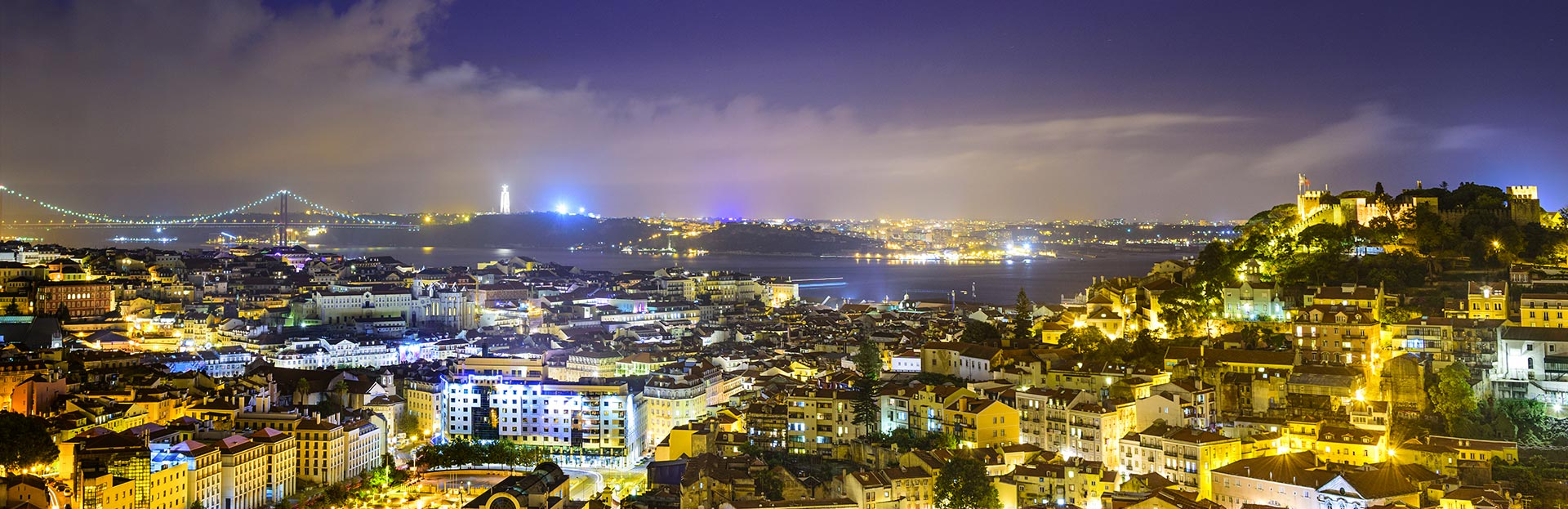 Lisbon Night Skyline