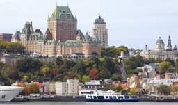 City skyline and Saint Lawrence River - Quebec City, Quebec, Canada