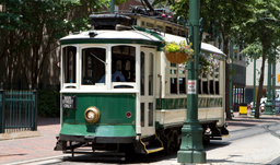 Electric trolley car on Main Street - Memphis, Tennessee, USA