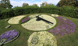 Famous flower clock landmark - Geneva, Switzerland