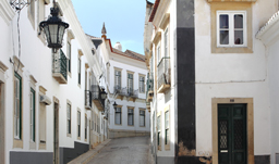Old town Cathedral square - Faro, Portugal