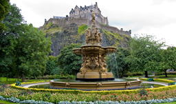 Edinburgh Castle from Princes Street Gardens - Edinburgh, Scotland
