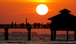 Piert at Sunset - Fort Myers, Florida, USA