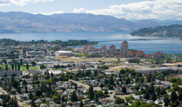 City view from Knox Mountain - Kelowna, British Columbia, Canada