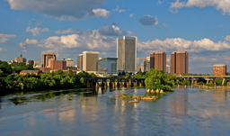 Cityscape over James River - Richmond, Virginia, USA