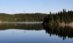 Mountain Reflection Scenery - Baie-Comeau, Quebec, Canada