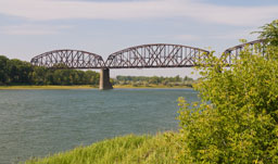 Bridge over Missouri River - Bismarck, North Dakota, USA