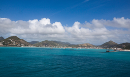 Aerial port view of St. Thomas, USVI - Caribbean cruise